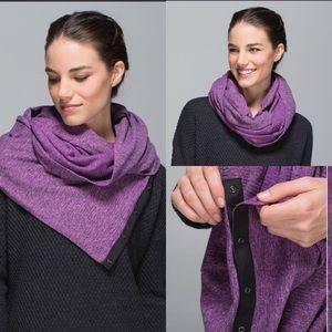 NWT Lululemon Vinyasa Infinity Scarf Ultra Violet